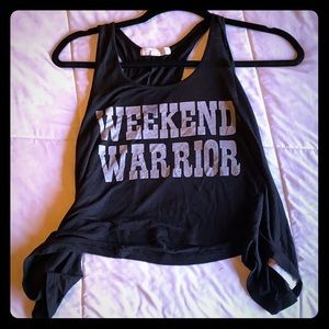 Weekend warrior crop top - fitness, work out top